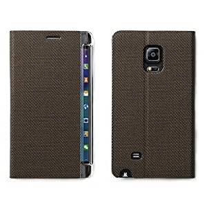Alienwork Case for Samsung Galaxy Note Edge Shock Proof Bumper Wallet Flip Sleeve Stand Faux leather bronze brown SN9150C-02