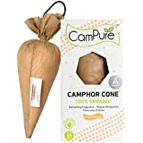 MANGALAM CamPure Camphor Cone, 45 Days Scent as Room Freshener with Mosquito Repellent Properties (Sandalwood) -2 Pack
