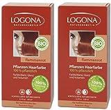 Logona Henna Haarfarbe Pflanzenhaarfarbe flammenrot im Doppelpack 2 x 100 g