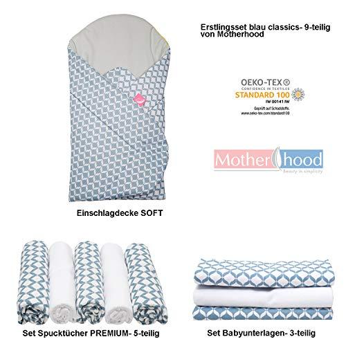 Kit de premiers lingots pour bébé - Cadeau de naissance, certifié Öko-Tex Standard - comprenant : couverture douce, 3 tapis de bébé + 5 serviettes de toilette premium