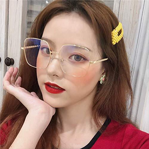 ZQWZ Retro quadratisch schwarz dicken Rahmen Brille weiblich ins großes Gesicht war dünn Haut Schönheit Artefakt Netzwerk rot koreanische Version
