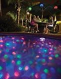 MemoryStar Unterwasserlichtshow mit 4 LED 70055 - Abschaltautomatik - Unterwasserlicht Poollicht - 7 verschiedene Lichtshows - INKL. BATTERIEN - DEUTSCHE MARKE