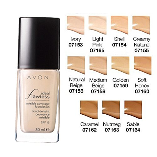 Avon True Ideal Flawless Unsichtbare Coverage Liquid Foundation Elfenbein