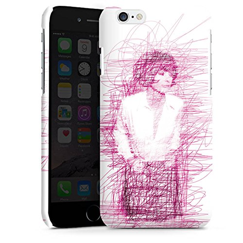 Apple iPhone 5 Housse Étui Silicone Coque Protection Fille Dessin Gribouillage Cas Premium brillant