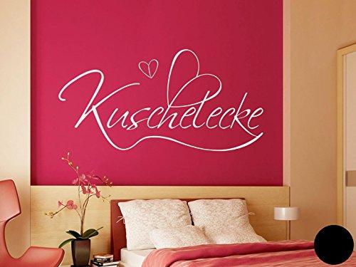 Klebefieber Wandtattoo Kuschelecke B x H: 80cm x 39cm Farbe: Schwarz