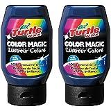 2x bleu foncé Turtle Wax couleur Magic (300ml)–Redonner Luminosité et brillance, SOS Carrosserie terne–Français Étiquettes