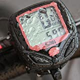 AUOKER Bicicleta Cuentakilómetros, Bicicleta Velocímetro Bicicleta A Prueba De Agua Ordenador Velocímetro Odómetro Luz De Fondo del LCD Negro con Retroiluminación