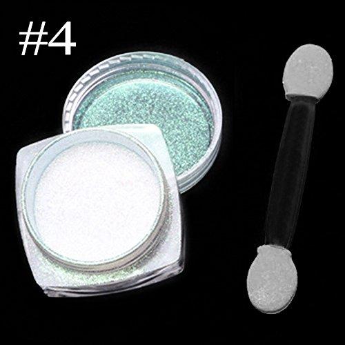 Nagel Glitzerpuder,Spiegel Glitter Chrom Effekt Nail Art Pulver 4#