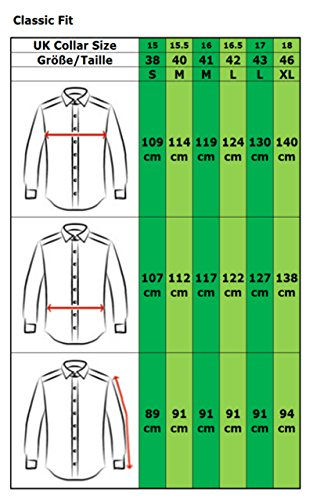 Image of COLLAR AND CUFFS LONDON - ULTIMATE NON-IRON - Luxury 100% Cotton - Fit Guaranteed - Twill Fabric - Men's Shirt - Long Sleeve - White - Classic Fit, Double Cuff - Plain Pattern C 15