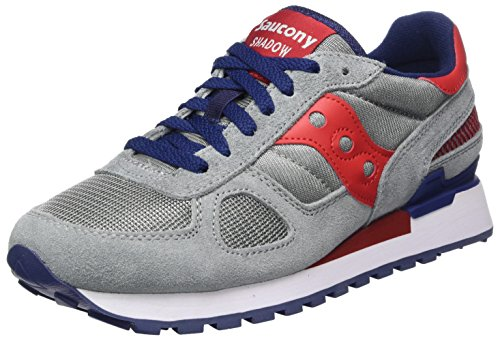 Saucony Shadow Original, Zapatillas de Running Para Hombre, Multicolore (Grey/Red/Blue), 41 EU
