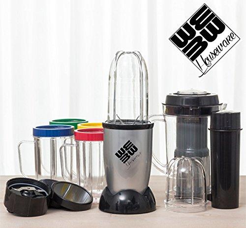 L\'originale We Bullet - Super Kit frullatore con 21 Pezzi - Include anche la centrifuga! Tritatutto super rapido con molti accessori inclusi
