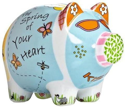 Ritzenhoff Mini Piggy Bank, 3er Set, Sparschwein, Porzellan, Design 2012, Christina Toscanini, (Porzellan Spielzeug)