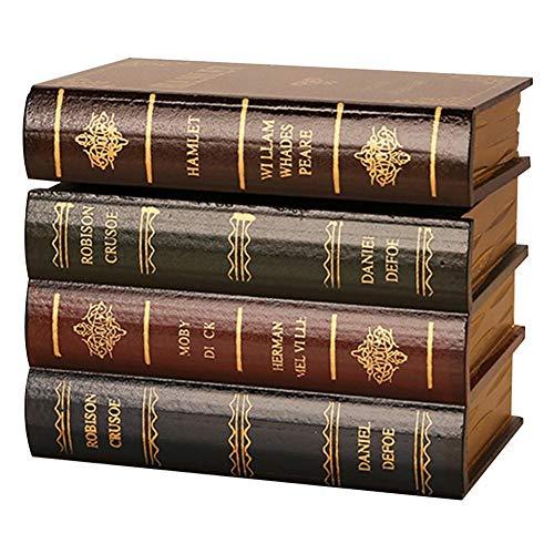 r Kunstbücher, Vintage-Requisiten, Buch-Schmuck, Aufbewahrungsverpackung, Lernbuch, Falsche Buch-Dekoration, Ornamente, siehe abbildung, Small ()