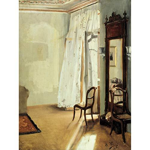 Adolph Menzel Das Balkonzimmer Art Print Canvas Premium Wall Decor Poster Mural Wand Deko - Print Art Canvas