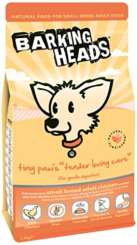 Barking Heads Dry Dog Food for Small Breeds – Bowl Lickin' Chicken – 100% Natural Chicken with No Artificial Flavours, Good for Healthy Digestion and Joint Health, 1.5 kg