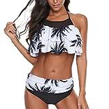 SHJIRsei Costumi da Bagno Donna Bikini Sexy 2019 Costumi Donna Mare Due Pezzi Brasiliana Costumi Interi Donna Taglie Forti Push Up Costume da Bagno Mare Spiaggia Estate Fiore per Le Ragazze