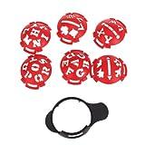 Golfball-Marker Liner Marker Vorlage Multi-Vorlage Rot