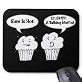 Talking muffin Joke Mousepad Funny design ufficio del mouse da Gaming Mouse pad