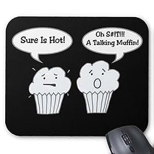 Talking muffin Joke Mousepad Funny design ufficio del mouse da Gaming Mouse pad
