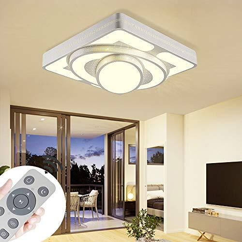 Deckenlampe LED Deckenleuchte 64W Wohnzimmer Lampe Modern Deckenleuchten Kueche Badezimmer Flur Schlafzimmer (Weiß, 64W-Dimmbar)