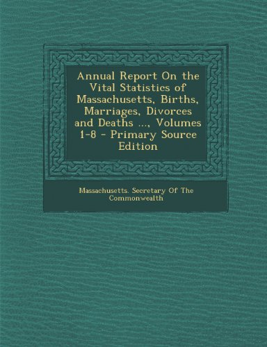 Annual Report On the Vital Statistics of Massachusetts, Births, Marriages, Divorces and Deaths ..., Volumes 1-8