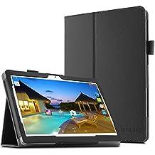 """YunTab 3G Tablet 10.1 inch/ACEPAD A101 (10.1"""") TABLET PC Funda Case, Infiland Folio PU Cuero Cascara Delgada con Soporte para Android 10,1 inch tablet YUNTAB 3G Tablet 10.1 inch 3g Tablet Pc /XIDO Z120/3G, Tablet Pc 10 inch/Artizlee 10 inch (10.1"""") Tablet PC ATL-21L 1280x800/ibowin P130 10.1 inch Allwinner A33/ACEPAD A101 (10.1"""")(More compatiable models in description),Negro"""