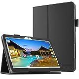 """YunTab 3G Tablet 10.1 Zoll/ACEPAD A101 (10.1"""") TABLET PC Hülle Case, Infiland Slim Fit Folio PU-lederne dünne Kunstleder Schutzhülle Cover Tasche für 10.1"""" Android Tablet-PC Inklusive 10.1"""" Android Tablet-PC Inklusive XIDO X111, 10 Zoll Tablet Pc(25,7 cm), Artizlee 10 Zoll (10.1"""") Tablet PC ATL-21L 1280x800, XIDO Z120/3G Tablet Pc 10 Zoll(Überprüfen Sie bitte die Details der kompatibelen Tablet-Modell-Liste in Produktbeschreibung)(Schwarz)"""