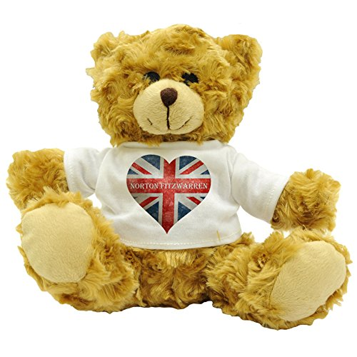 Love Norton Fitzwarren Union Flag / Union Jack Heart Design Plush Teddy Bear Gift (Approx. 22cm High)