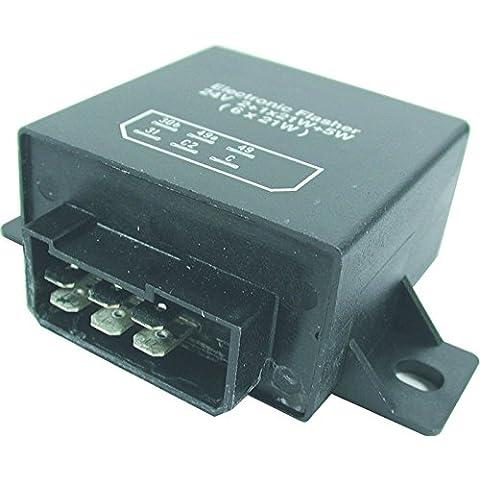 FL14 24 V 6 pin cuadrado Teckniks intermitente y arriesgar fusible