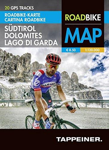 Preisvergleich Produktbild Roadbike Karte Südtirol Dolomites Lago di Garda: Cartina Roadbike Alto Adige Dolomites Lago di Garda (Roadbike / Rennradkarten / Roadbike)