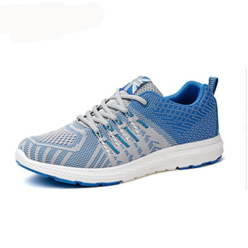 Men's Lightweight Comfortable Lace Up Running Shoes blue