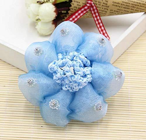 WEILIVE Haarnetz für Kinder und Mädchen, Prinzessinnen-Design, Tanzbälle, blau, 10 cm