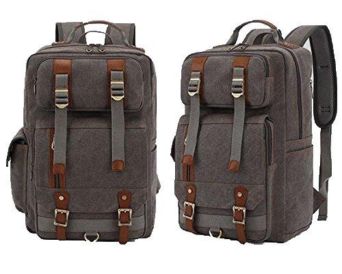 super-bab bakcpack Canvas Fashion Schule College Laptop Segeltuch Wandern Tasche Grau