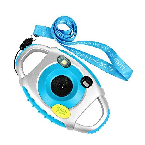 Funkprofi Kinder Kamera Kid Cam Mini Digital Camera Camcorder 5 Megapixel 1,44 Zoll Display Geschenk und Spielzeug für Kinder (Blau)