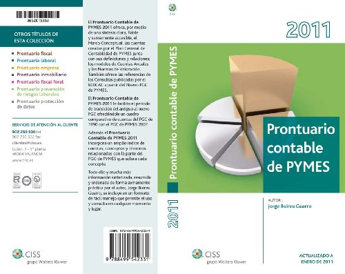 Prontuario contable de PYMES 2011 (Prontuarios) por Jorge Buireu Guarro