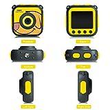 Wasserdichte Sport-Kamera für Kinder Jungen Mädchen Geschenk Spielzeug, mamum 720P Wasserdichte Sport-Kamera HD Camcorder Urlaub lernen Kamera Spielzeug für Kinder