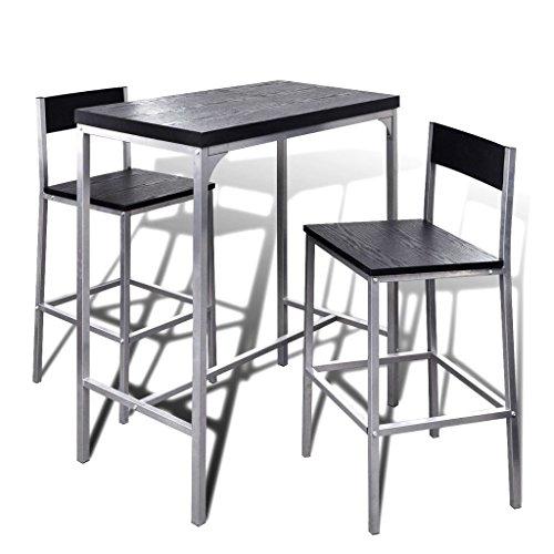 vidaXL Set Mesita Alta Para El Desayuno Bar Comedor Cocina Mesa Silla Mueble