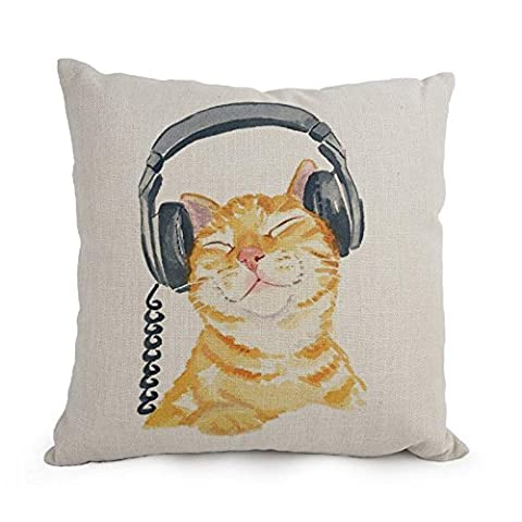 Uloveme Cat Pillow Shams ,best For Deck Chair,car Seat,boys,father,dance Room,bf 18 X 18 Inches / 45 By 45 Cm(2 Sides)