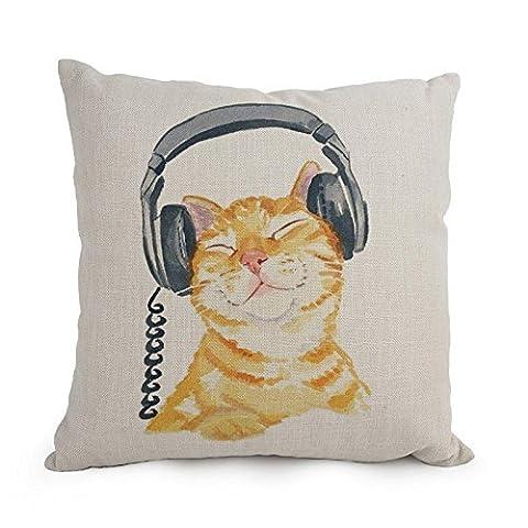 Uloveme Cat couvertures d'oreiller, le meilleur pour chaise longue, siège auto, garçon, Père, une salle de danse, BF 45,7x 45,7cm/45par 45cm (2Côtés)