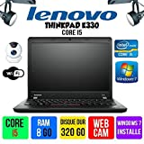 LENOVO THINKPAD EDGE E330 Intel® Core™ i5-3210M 2.5 GHz Memoire 8Go Disque Dur 320Go Windows® 7 Pro 64 bits