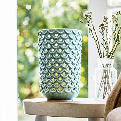 LED Kerzen Windlicht Keramik mint grün Lights4fun