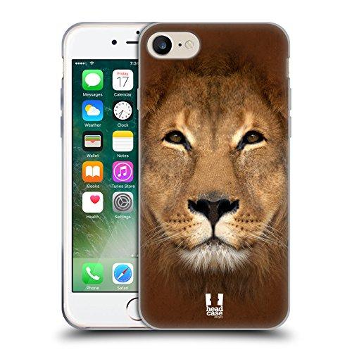 Head Case Designs Lachendes Kleine Faultier Tiergesichter 2 Soft Gel Hülle für Apple iPhone 6 / 6s Löwe