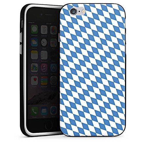 Apple iPhone 5s Housse Étui Protection Coque Drapeau bavarois Bavière Drapeau Housse en silicone noir / blanc