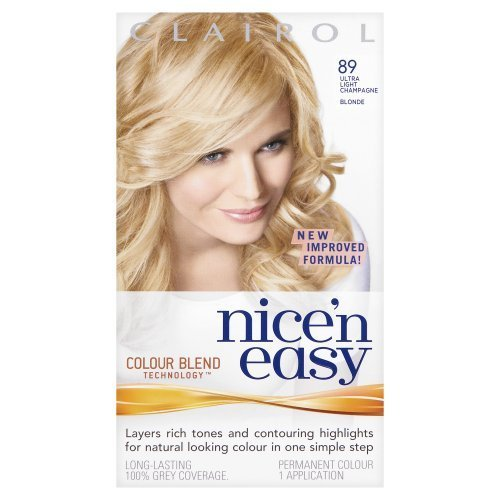 clairol nice n easy permanent hair colour 89 natural ultra light champagne blonde - Mousse Colorante Non Permanente