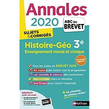 Annales ABC du Brevet 2020 Histoire-Géographie-EMC