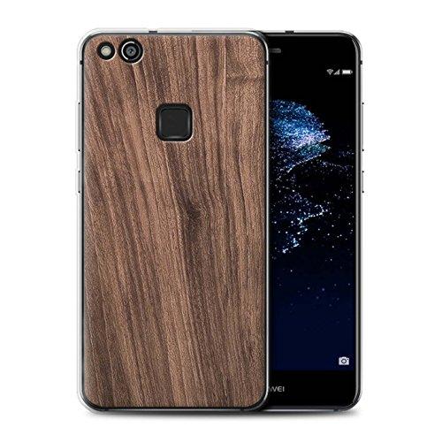 Stuff4® Gel TPU Hülle/Case für Huawei P10 Lite/Nussbaum Muster/Holz/Holzmaserung Muster Kollektion -