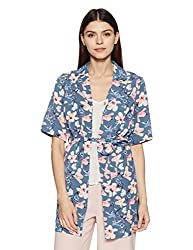 VERO MODA Womens Body Blouse Top (1830549003_Colony Blue_Medium)