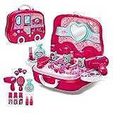 Ensemble de maquillage de salon de beauté élégant à la mode pour filles Ensemble de jouets de jeu de simulation...