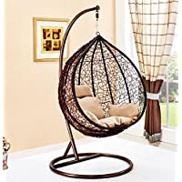 Hanging Rattan Swing Patio Garden Chair Weave Egg with Cushion in or Outdoor