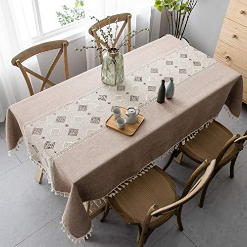 Pahajim tovaglia in stile cinese, tovaglie rettangolari antimacchia tovaglie resistenti alle rughe cotone riusabile casa cucina cena picnic tovaglia decorazione da tavolo(quadrato,140x140cm)